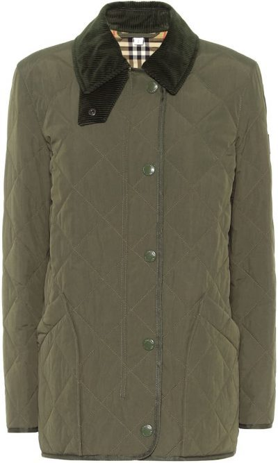 Green Quilted Barn Jacket-Burberry