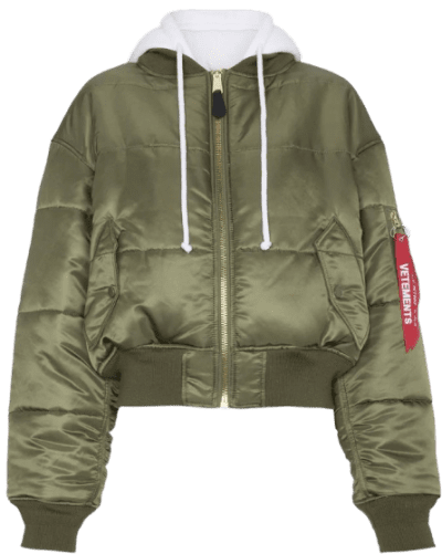 Green Quilted Reversible Bomber Jacket-