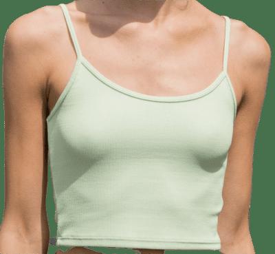 Green Skylar Tank-Brandy Melville