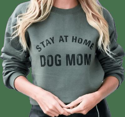 Green Stay At Home Dog Mom Sweatshirt