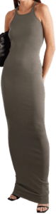 Grey Cotton-Jersey Maxi Dress-Rick Owens