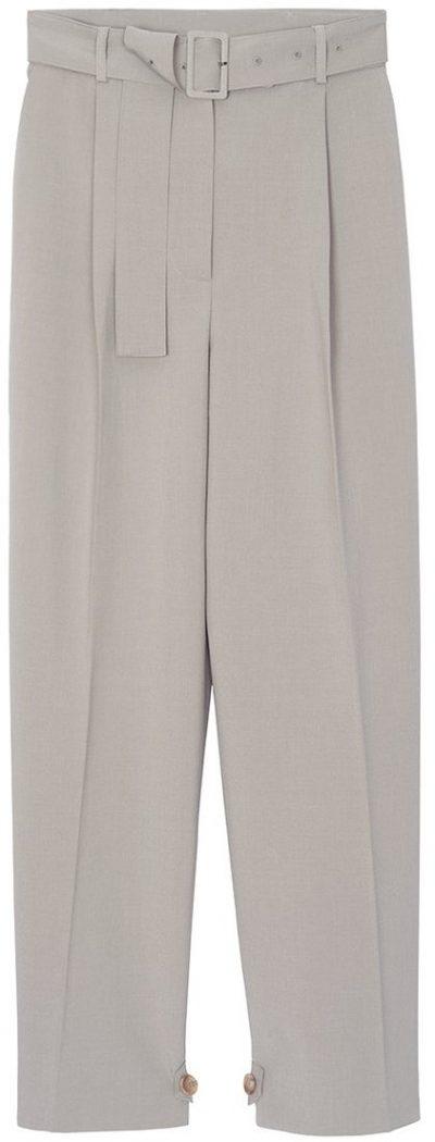 Grey Elvira Belted Suit Pants-Frankie Shop