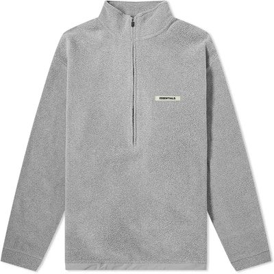 Grey Half Zip Pullover Sweater-Fear Of God