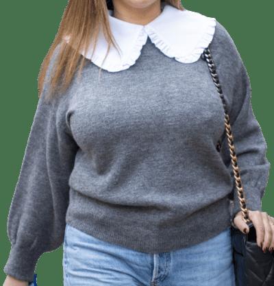 Grey Jumper With Collar-F&F