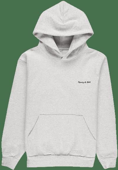 Grey Logo Hoodie-Sporty & Rich