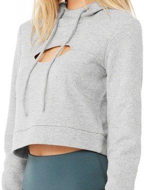 Grey Peek Pullover-Alo Yoga