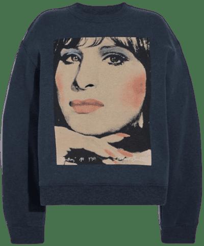 Grey Sweatshirt With Barbra Streisand-Coach X Richard Bernstein