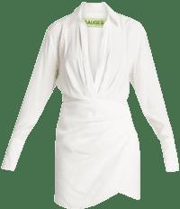 Ivory Naha Long-Sleeve Mini Shirt Dress