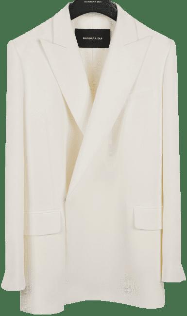 Ivory Oversized Crepe Blazer-Barbara Bui
