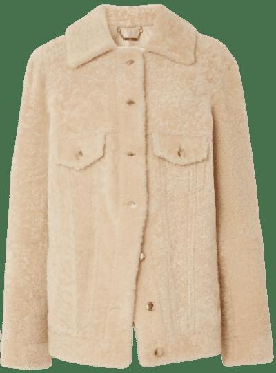 Ivory Shearling Jacket
