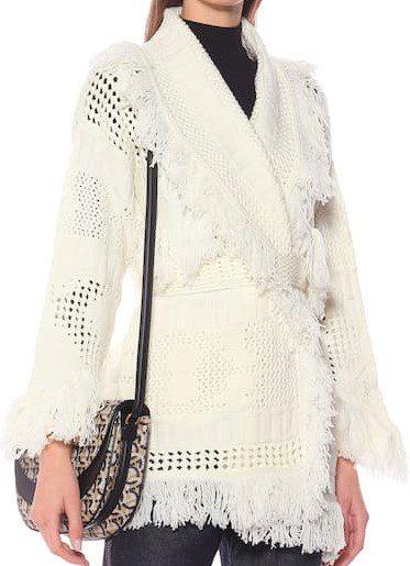 Lapponia White Wool Cardigan-Alanui