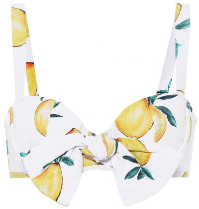 Lemon Print Clara Bikini Top