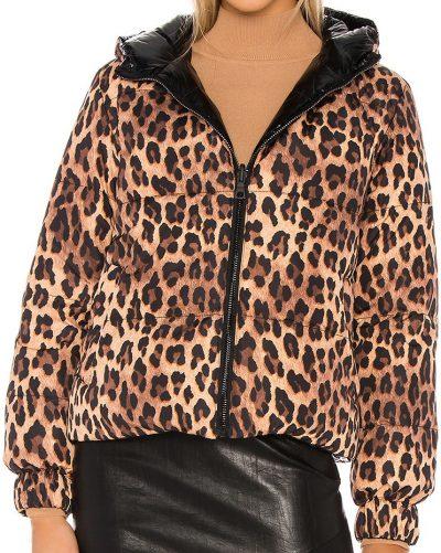 Leopard Durham Reversible Hooded Puffer-Alice + Olivia
