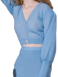 Light Blue Mohair Cardigan