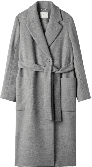 Light Grey Carlyle Wool Coat