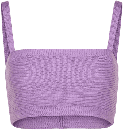 Lilac Knit Top-Kendall + Kylie