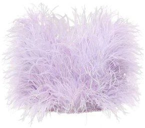 Lilac Strapless Feather Top-The Attico