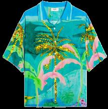 Loose Hawaiian Shirt With Artist Print-Celine