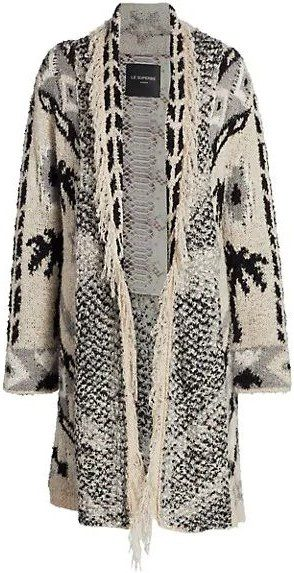 Marilyn Palm Tree Weave Cardigan-Le Superbe