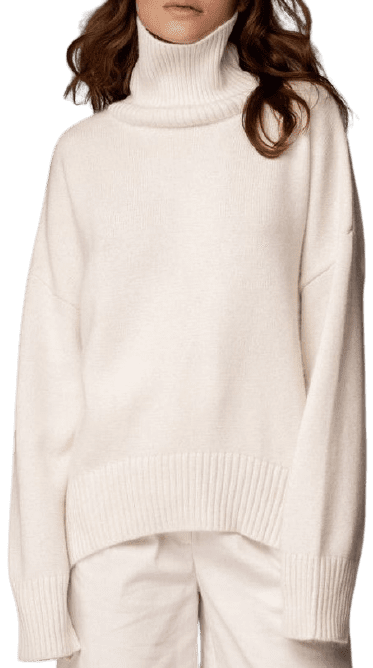 Milk Oversize Cashmere Sweater-Bazilika