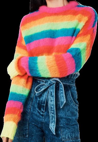 Multicoloured Rainbow Jumper-Manoush