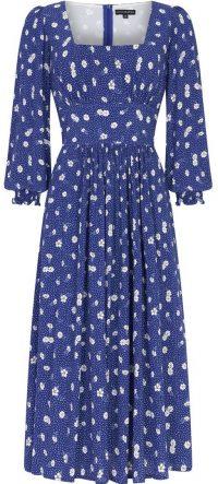Navy Flower Dolly Dress