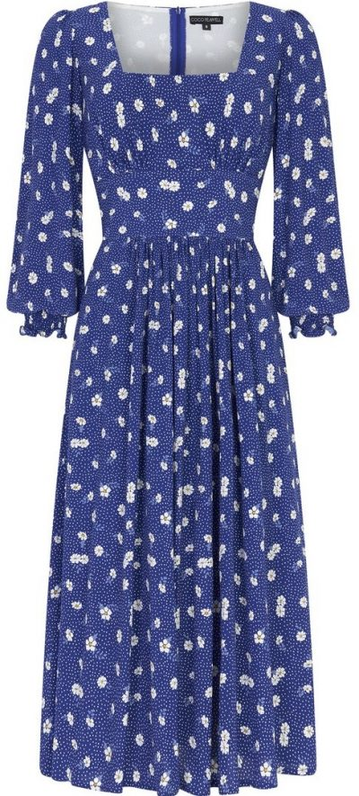 Navy Flower Dolly Dress