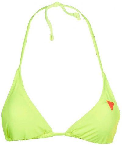 Neon Yellow Logo Triangle Bikini Top-Guess