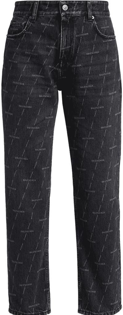 Noir Logo-Print Cropped Jeans