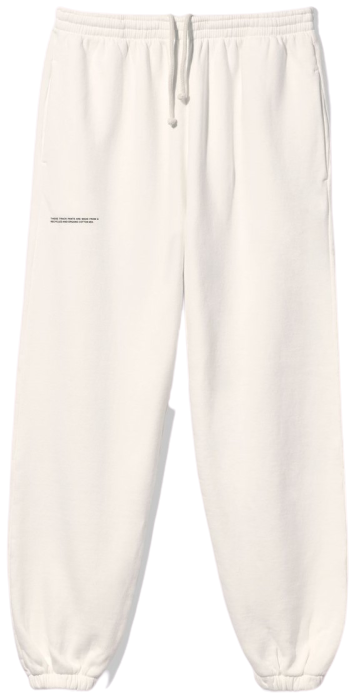 Off-White Recycled Cotton Track Pants-Pangaia