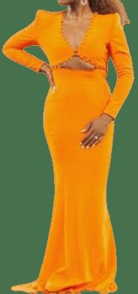 Orange Custom Dress-Sergio Hudson