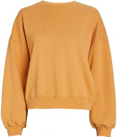Orange V-Neck Balloon Sleeve Sweatshirt-AGOLDE