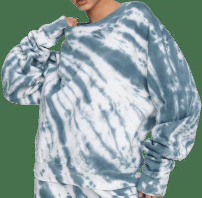 Orion Blue Tie Dye Boyfriend Sweatshirt-Good American