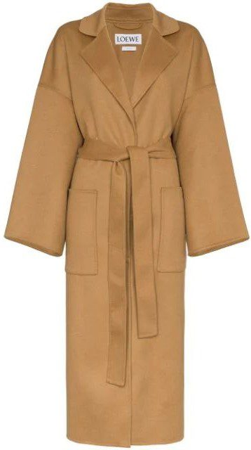 Oversized Belted Wool Cashmere-Blend Coat-Loewe