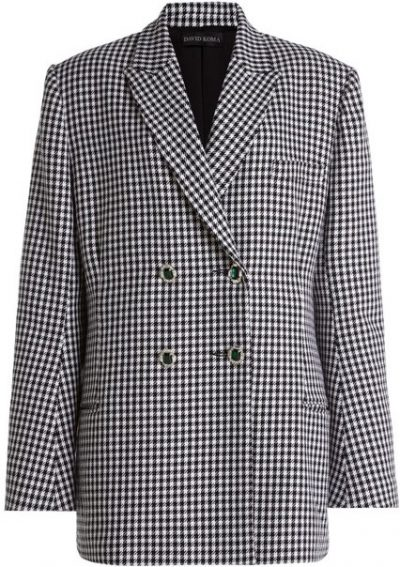 Oversized Houndstooth Tweed Blazer-David Koma