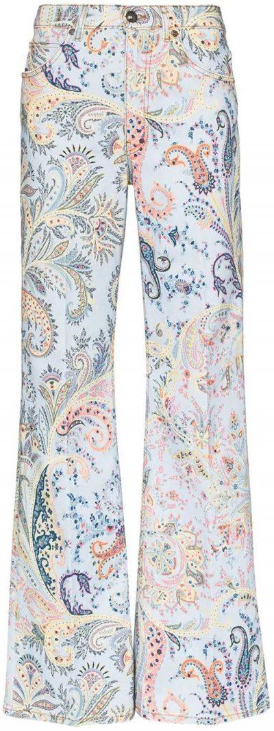 Paisley Flared Jeans-Etro