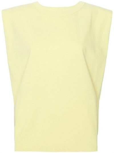 Pale Yellow Eva Padded Shoulder Muscle T-Shirt-Frankie Shop X Camille Charrière