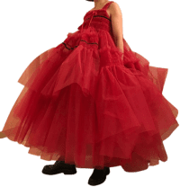 Pink Custom Dress-Molly Goddard