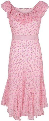 Pink Faith Floral-Print Silk-Chiffon Dress-LoveShackFancy