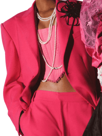 Pink Fall 2021 Collection Blazer-Prabal Gurung