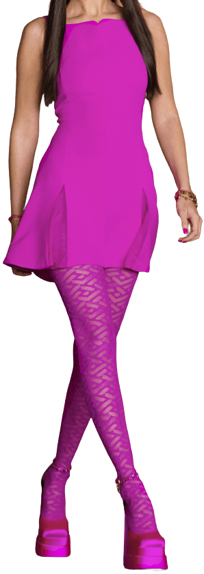 Pink Fall 2021 Collection Mini Dress-Versace