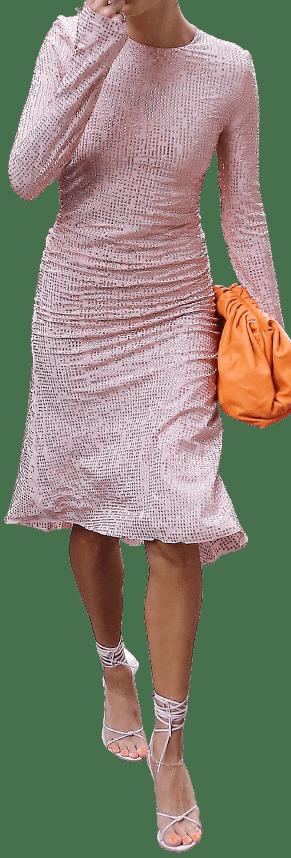 Pink Fall 2021 Sequin Dress-Miu Miu