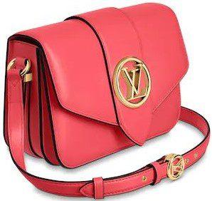 Pink LV Pont 9 Handbag-Louis Vuitton