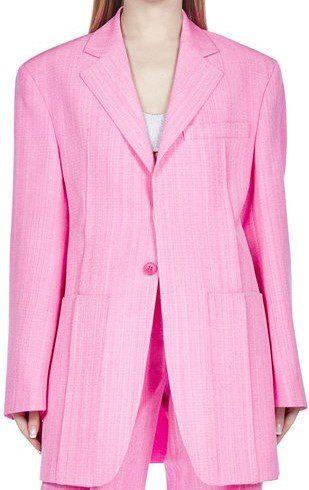 Pink Oversized Blazer-Jacquemus