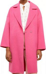 Pink Raphaelle Wool Coat-Gerard Darel