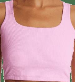 Pink Ribbed Active Cami Top