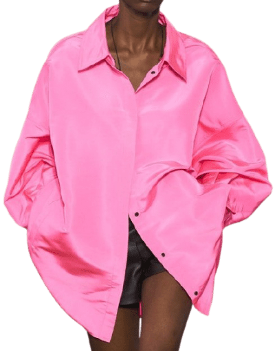 Pink Spring 2021 Oversized Button Down Shirt