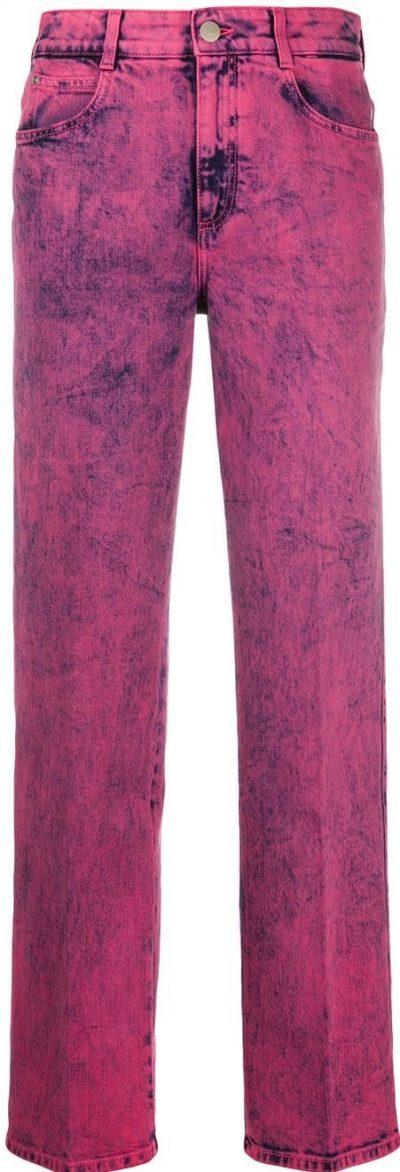 Pink Straight-Leg Jeans