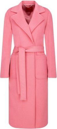 Pink Wool Runway Coat
