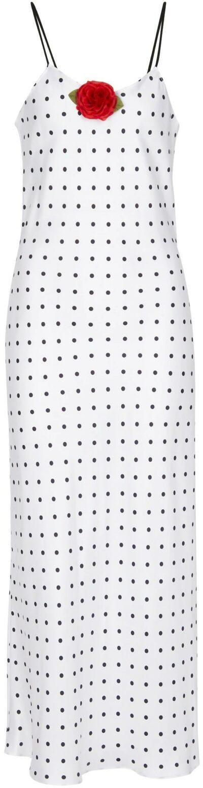 Polka-Dot Silk Twill Slip Dress-Rodarte